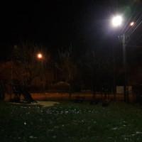 Nowe oświetlenie przy placu zabaw!