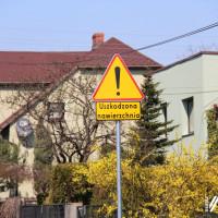 Ulica Ogrodowa - uszkodzona nawierzchnia