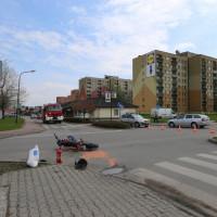 Wypadek na skrzyżowaniu w Pszczynie: ranny motocyklista